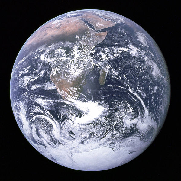 The Earth seen from Apollo 17